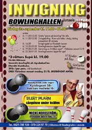 Invigning Junsele bowlinghall